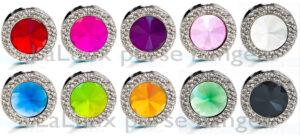 Laluux taskeholdere i rundeform med dobbelt krystaler